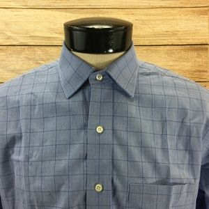 Brooks Brothers Button Front Shirt L Slim Fit